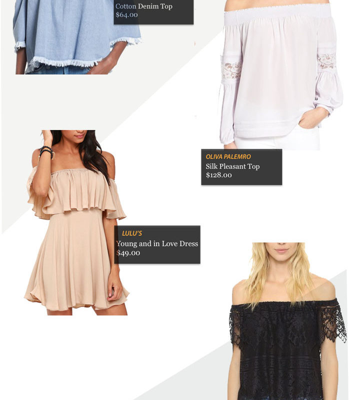 TREND ALERT: OFF THE SHOULDER